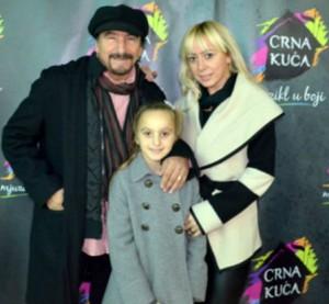 Željko Bebek, supruga i kći