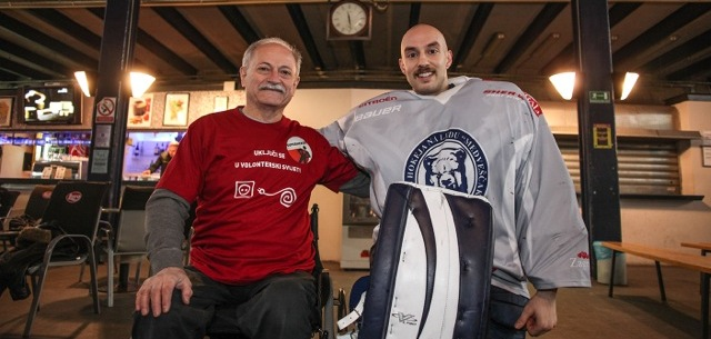 Mark Dekanich i volonter Milan Ožegović