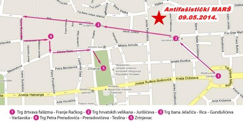 Antifašistički marš-Ruta za Zagreb