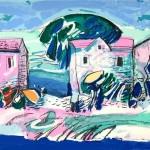 Tihomir Lončar-grafika Kuća uz more