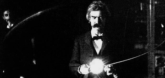 Mark-Twain i Nikola-Tesla-laboratory