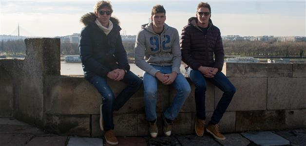 Vaterpolisti-Beograd-Marko Bijač, Luka Bukić i Sandro Sukno